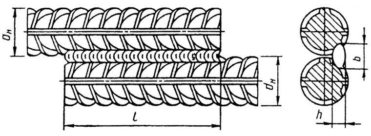 Вариант стыковой сварки арматуры