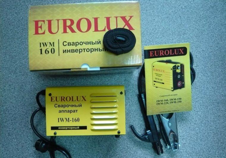 Комплектация сварочного инвертора  Eurolux IWM-160