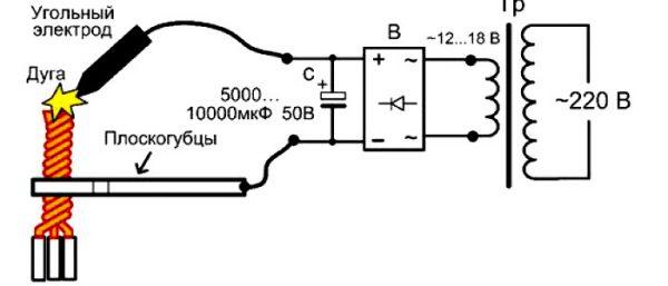 Схема аппарат для сварки скруток своими руками