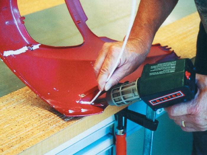 Процесс термосварки пластиковых изделей