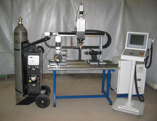 установка для автоматической дуговой сварки узлов