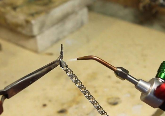 Пайка ювелирных изделий серебрянным припоем
