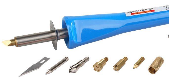 Прибор для выжигания Stayer с набором наконечников